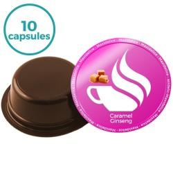10 capsules caramel ginseng  a modo mio Compatible