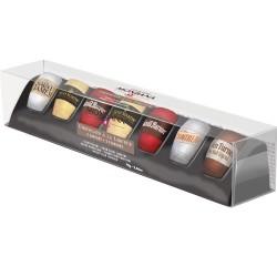 Coffret Assortiment 7 chocolats noirs à la liqueur (5 saveurs) - Monbana