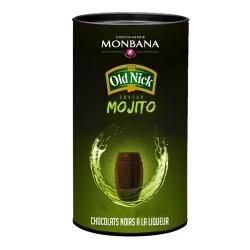 Boîte de 25 chocolats noirs à la liqueur Saveur Mojito 250g - Monbana