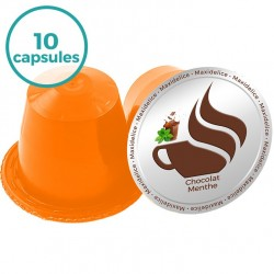10 capsules Chocolat Menthe compatibles Nespresso®