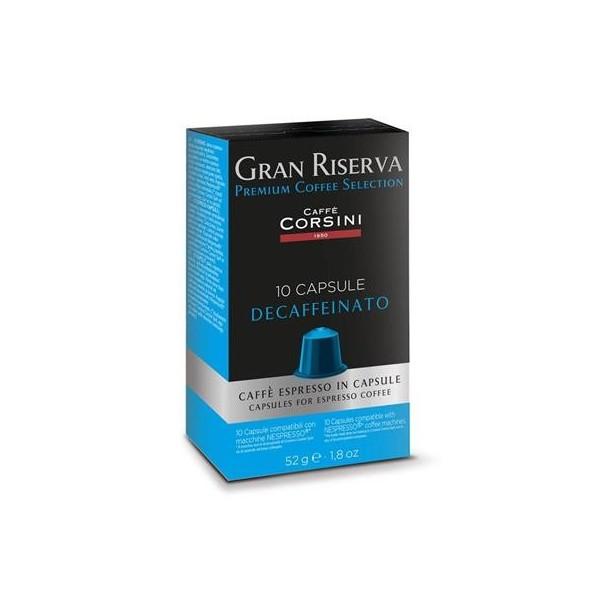 capsules compatibles nespresso corsini decaféiné