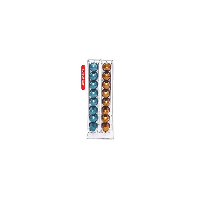 distributeur porte 32 capsules nespresso metal line. Black Bedroom Furniture Sets. Home Design Ideas