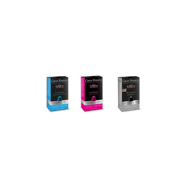 Pack decouverte 30 Capsules Corsini Compatibles Nespresso®