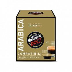 16 Capsules Café Arabica Vergnano compatibles Lavazza a Modo Mio