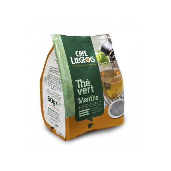 dosettes senséo thé vert à la menthe café liègeois