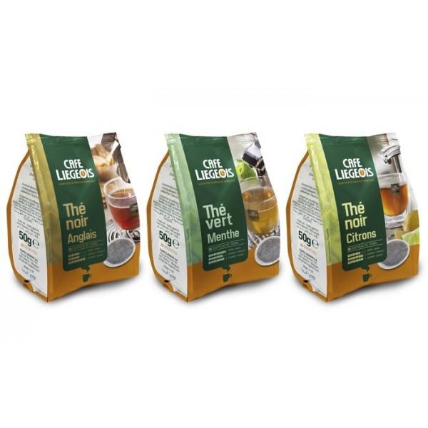 Pack assortiment 120 dosettes souples Thé Senséo compatibles