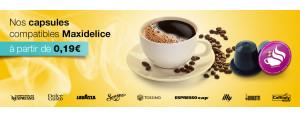 Capsules café compatibles Maxidélice
